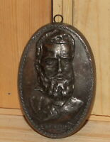 Antique hand made bronze wall hanging sculpture Hristo Botev