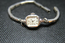 Vintage Woman's 10K White Gold Wittnauer Wristwatch Manual Wind WORKING