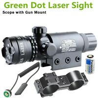 Tactical Green Mil-dot Laser Sight Outside Adjusted Hunting Rifle Scope w/Mounts