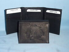 CHICAGO BLACKHAWKS    Leather TriFold Wallet    NEW    black 3  m1