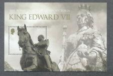 Jersey-King Edward Vii & Queen Victoria Royalty min sheet mnh