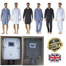 New Mens Haigman Luxury Combed Cotton Gift Boxed Night Shirt 2 Piece Pyjama Set