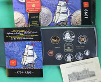 1999 Proof RCM Double Dollar Canada Set 8 Coin Voyage of Juan Perez with Box COA