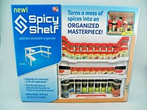 Spicy Shelf Universal Organizer for Cabinets/Pantry Kitchen Cupboards NEW