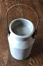 Vintage Small Aluminium Milk Churn, Blow 1950s, lid, handle, 23cm tall, unusual