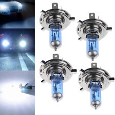 4Pcs H4 55W Halogen Light Bright White Car Bulbs Bulb Lamp 12V 6000K US Seller