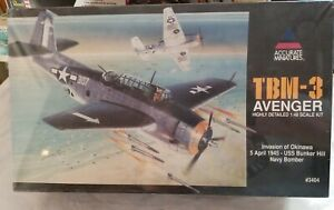1996 ACCURATE MINIATURES 3404 TBM-3 AVENGER INVASION of OKINAWA - 1/48 SCALE KIT