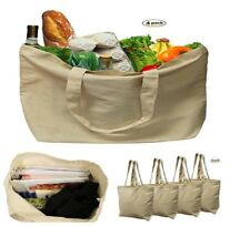 Earthwise Organic Cotton Reusable Grocery Shopping Bags Large Machine Washable