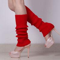 Women Winter Warm Knit Crochet High Knee Leg Warmers Leggings BootSocks Slouch f