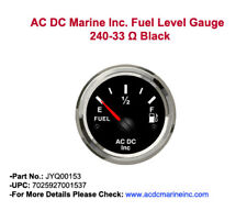 Cummins Fuel level gauge 240-33 ohm black JYQ00153,Marine Gauge