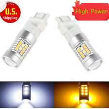 High Power 2pcs 3157 Dual-Color Switchback 28-SMD LED Turn Signal Bulbs US Sale