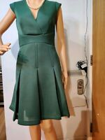 NEW REISS DRESS SIZE UK 6 USA 2 GREEN 100% POLYESTER