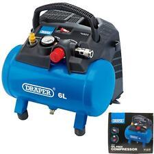 Draper 6L Litre Pump Small Compact Portable Oil-Free Air Compressor 1.5HP 1.2kW