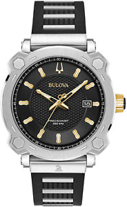 Limited Bulova Mens Grammy Precisionist Silicone Strap Watch 98B319 Box + Papers