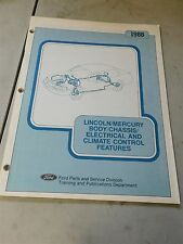Nos 1988 Lincoln Mercury Body Chassis Electrical Climate Control Shop Manual