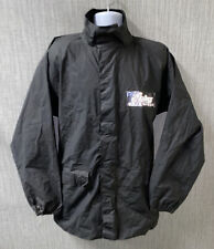 Rain Gear By Indian Mens Black Water Resistant Motorcycle Jacket Size L