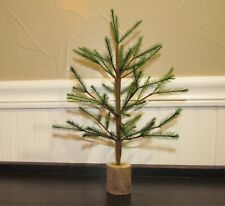 "Primitive Antique Vtg Style 12"" Faux German Feather Artificial Christmas Tree"