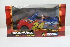 Jeff Gordon Speed-Wheel Racer & Action Figure #24 Dupont NASCAR Flames NEW