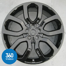"GENUINE RANGE ROVER VOGUE 22"" 5 SPLIT SPOKE STYLE 6 BLACK ALLOY WHEEL LR037747"