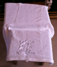 SOFT TOUCH BABY BLANKETS WHITE WITH SILK LIKE LOGO