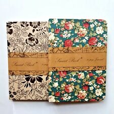 Mini Cute Journal Diary Notebook With Lined Paper Vintage Retro Notepad Book