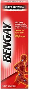 2 x 4oz Ultra Strength Ben Gay Relief Cream Muscle Aches & Joint Pain Exp 05/22
