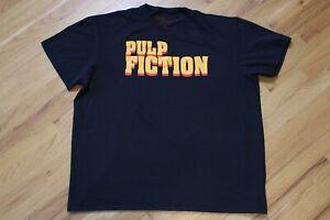 Pulp Fiction Logo T-Shirt Retro 90s Size 2XL XXL Quentin Tarantino Black Tee