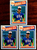 1984 USA Olympic #22 WILL CLARK ~ 3 CARD LOT ~ VERY NICE THRILL CARDS!