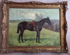 Fine 19th Century Queen Victoria Horse Antique Oil Painting