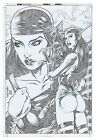 Elektra - Original comic art -  by Wellington Diaz