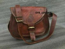 Leather Messenger Shoulder Bag Cross Body Handmade Purse Women Vintage Saddle