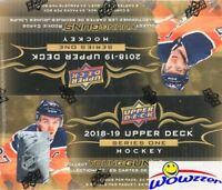 2018/19 UD Series 1 Hockey Factory Sealed 24 Pack Retail Box-6 YOUNG GUNS+Jersey