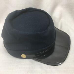 Union Hat AMERICANA SOUVENIRS Wool Civil War Reenactment Navy Blue USA SMALL