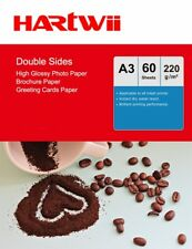 60 Sheets A3 Double Sided High Glossy Photo Paper 220Gsm Inkjet Paper Hartwii