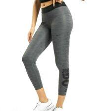 🔥 Nike Pro Dri-Fit Just Do It 7/8 Tights Womens Size XL Black Gray CQ9313-010