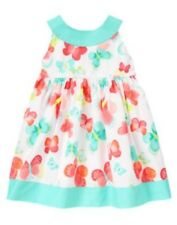 NWT Gymboree Butterfly Catcher Girl 2PC Blue Pink Summer Spring Dress 24M 2T