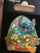 Disney HKDL Happy Easter 2010 Stitch and Scrump Pin LE 300