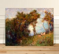 "Classic Australian Fine Art ~ CANVAS PRINT 16x12"" Frederick Mccubbin Afterglow"