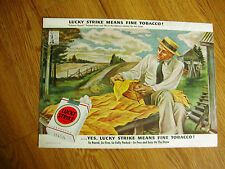 1943 Lucky Strike Cigarette Ad Tobacco Expert Painted from Real Life Joe Jones