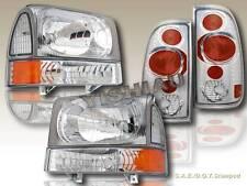 1999-2004 FORD F250/350 SUPER DUTY CLEAR HEADLIGHTS & CORNER & CLEAR TAIL LIGHTS