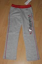 TOP Sanrio HELLO KITTY  Jogginghose Sporthose grau/rot Gr. 98 NEU
