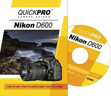 Quickpro Training Dvd Nikon D600 ->New< Free Us Shipping