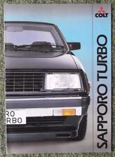 MITSUBISHI COLT SAPPORO TURBO SALES BROCHURE 1982 REF- 0482