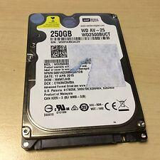 "250GB 2.5"" WD SATA Internal Laptop Hard Disk Drive WD2500BUCT HDD"
