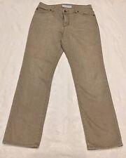 Women's CHICO'S Size .5 (6) PLATINUM DENIM Dark Beige Wash Straight Leg JEANS