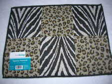 new place mat Tapestry placemat table bar 13 x 18 Animal zebra cheetah