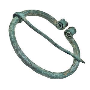 Ancient Viking Bronze Fibula Artifact Jewelry Pin - Ca 8th-11th Century AD Old