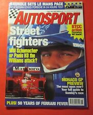 AUTOSPORT MAGAZINE MAY/1997...BRITISH PUBLISHER..50 YEARS OF FERRARI FEVER