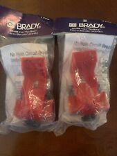 "(2) Brady 65397 Clamp-On 480/600V No Hole Circuit Breaker Fits 9/32"" Padlock"