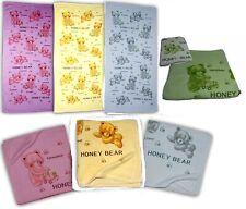 Honey Bear Badetuch 70x140cm Baby Markenlos gelb,grün,blau,rosa 100%Baumwolle